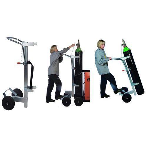 Tralle for gass-sylinder ergonomisk