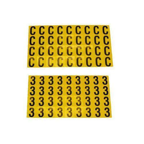Selvheftende bokstaver og tall 14 x 19 mm
