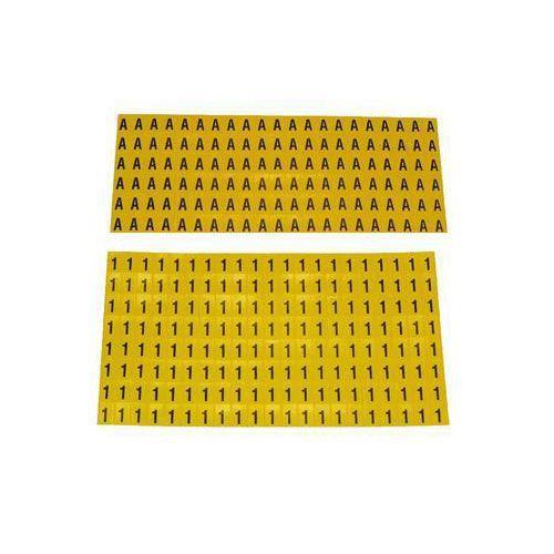 Selvheftende bokstaver og tall 6 x 9,5 mm