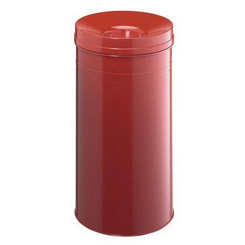 Papirkurv med branndempende beholder