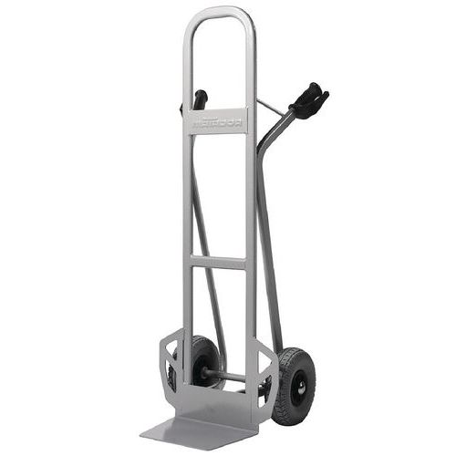 Magasintralle 350 kg høy rygg, Massivgummihjul