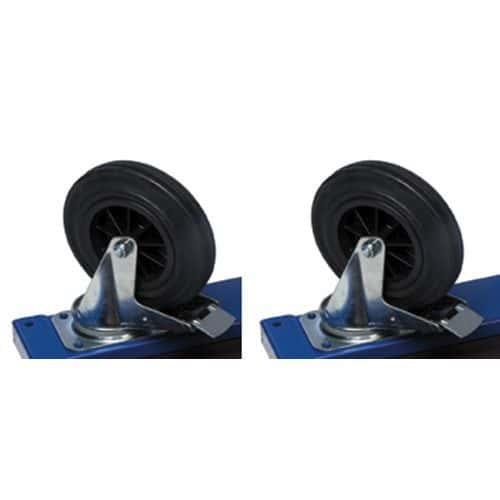 Brems på 2 hjul Ø 160 mm
