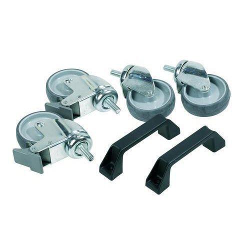 4 hjul + 2 håndtak til Raaco-stativ