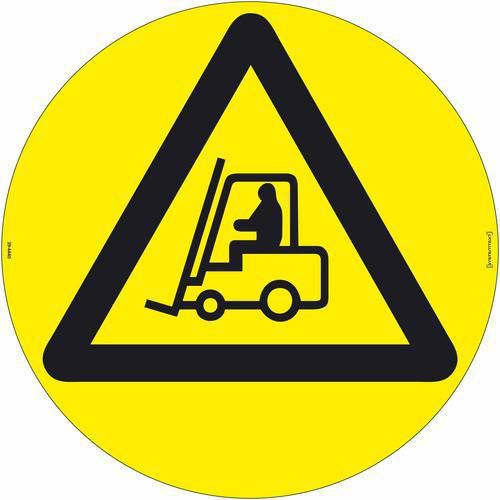 Varselskilt: Arbeidskjøretøy