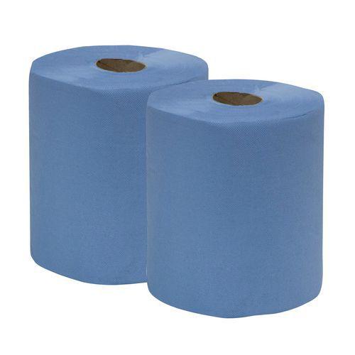 Ikatex tørkepapir, 2-lags, 2 ruller for middels vanskelig smuss, blå